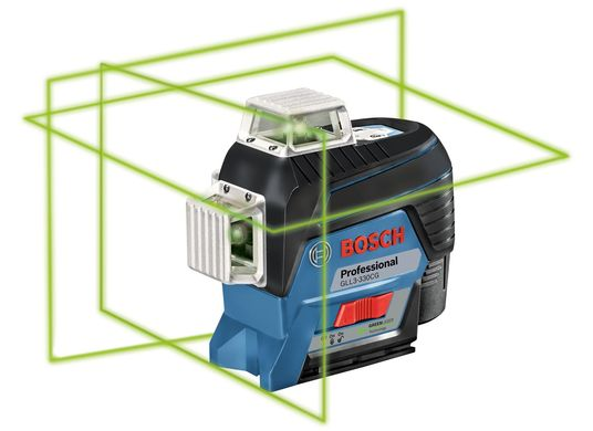 360° Connected Green-Beam Three-Plane Leveling and Alignment-Line Laser